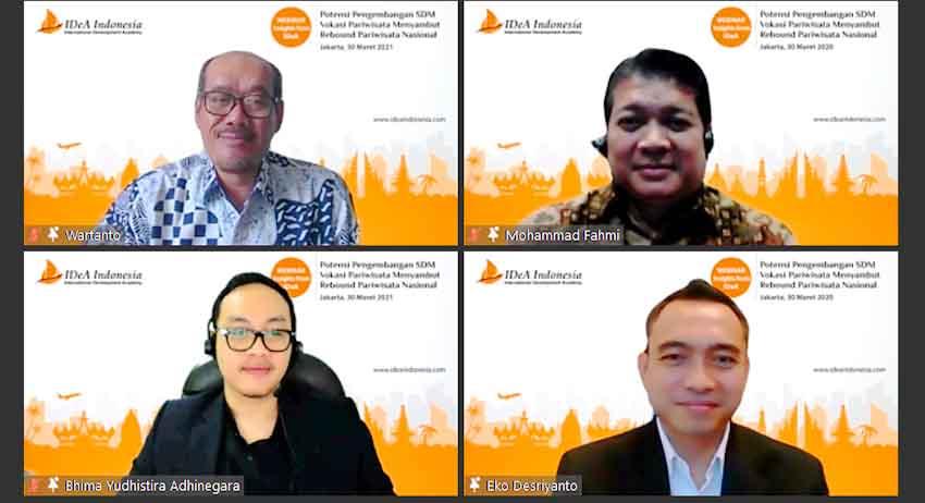 """Kembangkan SDM Unggul di Sektor Pariwisata, IDeA Indonesia Gelar Webinar """"Insights from IDeA"""""""