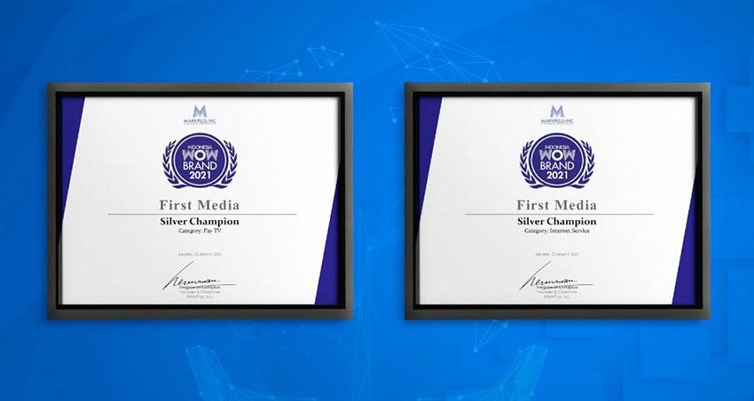 First Media Kembali Raih Penghargaan Indonesia WOW Brand 2021