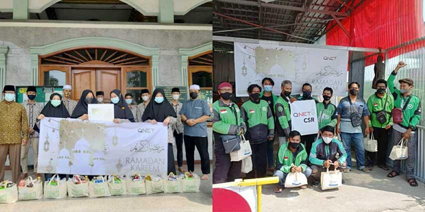 Berbagi Kebahagiaan di Bulan Ramadhan, QNET Bagikan 1.000 Paket Sembako
