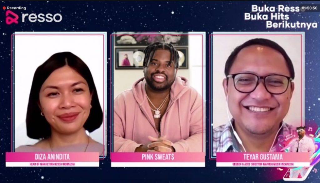 Resso Gandeng Pink Sweat$ Kampanyekan 'Buka Resso Buka Hits Berikutnya'