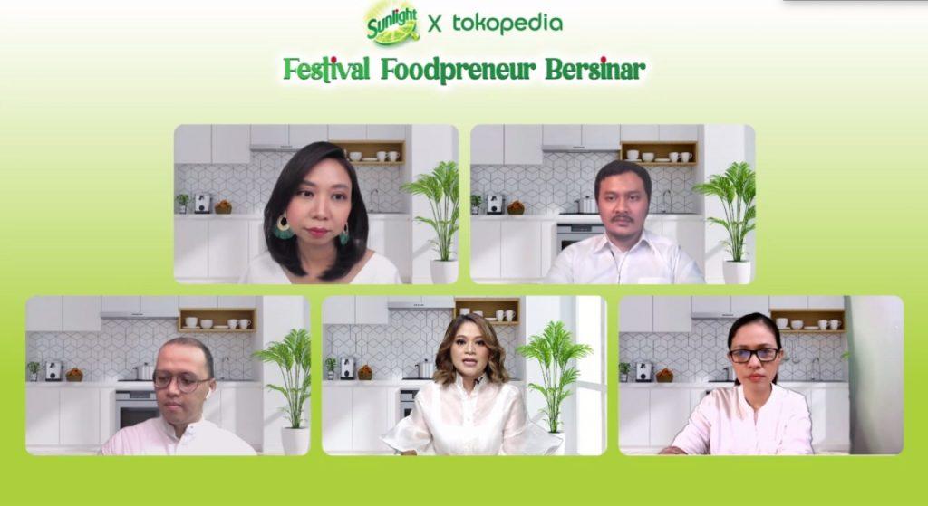 Dukung Perempuan Indonesia Jadi Pengusaha Kuliner Digital, Sunlight Bersama Tokopedia Gelar Festival Foodpreneur Bersinar